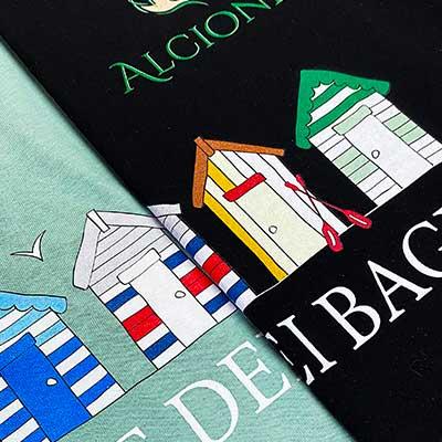 T-shirt con stampa diretta